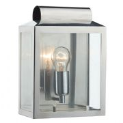 Notary Wall Light in Stainless Steel with Glass Panel Inserts IP44 - där NOT2144